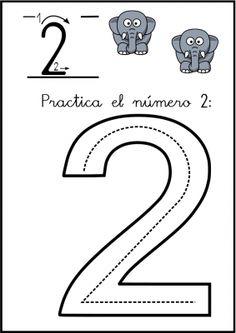Numbers Preschool, Math Numbers, Preschool Activities, Letters And Numbers, Number Crafts, Spanish Numbers, Finger Plays, Handwriting Worksheets, Kindergarten Math Worksheets