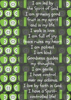 Free printable - Fruit of the Spirit Scripture Confession for Kids. Teach young children to confess truth, so that their minds may be continually renewed and readied for action! Great resource for parents, teachers, youth leaders.