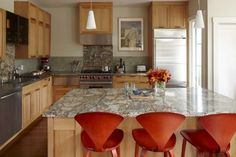 Kitchen - eclectic - kitchen - san francisco - Andre Rothblatt Architecture Liking this color palette the most would look great with the oiled hickory floors and a honed grey granite fresh works well with steel appliances