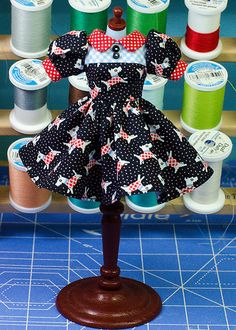 Plastic Fashion Blythe DressScotties by PlasticFashion on Etsy, $45.00