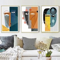 Online Shop Abstract Vintage Figure Wall Art Canvas Painting Geometric Posters and Prints Pictures for Living Room House Interior Decor Abstract Canvas Wall Art, Wall Canvas, Modern Canvas Art, Diy Canvas, Acrylic Wall Art, Canvas Wall Paintings, Modern Abstract Art, 3 Piece Canvas Art, 3 Piece Wall Art