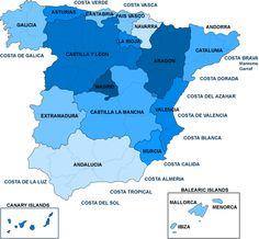 Political Map of Spain (mapped September 5-6, 2012)