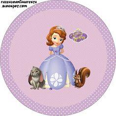 Fazendo a Minha Festa!: Princesinha Sofia da Disney - Kit Completo com molduras para convites, rótulos para guloseimas, lembrancinhas e imagens!