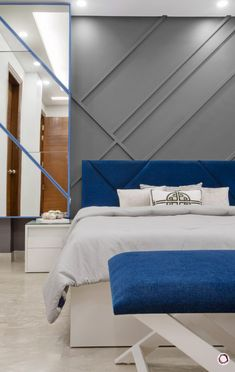 Plan: A Glamorous Delhi Home on a Budget Luxury Bedroom Design, Bedroom Bed Design, Interior Design, Apartment Bedroom Decor, Room Decor Bedroom, Bedroom Signs, Bed Room, Bedroom Ideas, Modern Bedroom Furniture