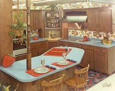 Here are the Kitchen Retro Design Ideas. This article about Kitchen Retro Design Ideas was posted under the Kitchen category. Vintage Interior Design, Vintage Interiors, Retro Design, Home Interior Design, Interior Ideas, 1970s Decor, Retro Home Decor, Vintage Decor, Retro Vintage