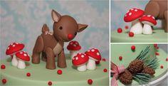 Woodland themed cake.