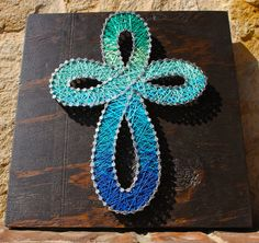 Cross String Art 12x12 by CClarkeDesigns on Etsy, $35.00