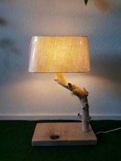 Tischlampe aus Holz, ein echtes Einzelstück! #Handmade Table Lamp, Ebay, Lighting, Home Decor, Table Lamps, Decoration Home, Room Decor, Lights, Home Interior Design