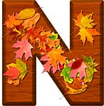 Presentation Alphabets: Cherry Wood Leaves Letter N Alphabet Letters Design, Alphabet Names, Monogram Alphabet, Alphabet And Numbers, Letter Designs, Letter N, Letter A Crafts, Leaf Crafts, Fall Fest
