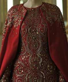 Heavily bead Embellished Ensemble  by Alexander McQueen