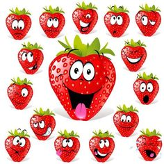 Find Funny Fruit Cartoon Isolated On White stock images in HD and millions of other royalty-free stock photos, illustrations and vectors in the Shutterstock collection. Thousands of new, high-quality pictures added every day. Strawberry Pictures, Funny Vegetables, Fruit Cartoon, Funny Fruit, Food Illustrations, Stone Art, Art Images, Vector Art, Eps Vector