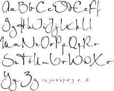 Resultado de imagem para calligraphy alphabet