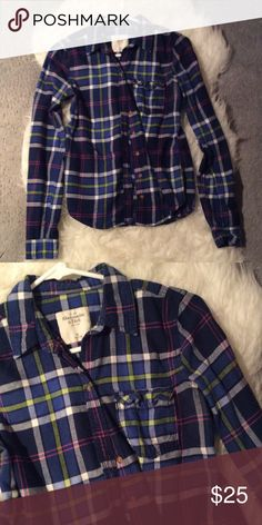 A&F plaid long sleeve Long sleeve plaid button up. Worn a few times. Abercrombie & Fitch Tops