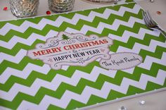 Personalized Paper Placemats  Christmas Holidays  by TIPgifts, $20.75