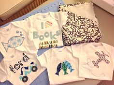 Piedy Made Onesies & baby blanket