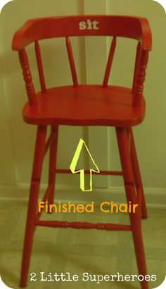 Wooden toddler chair.  So much cuter than a high chair or booster seat.