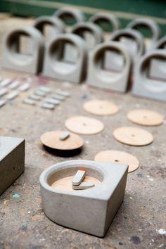 The MOAK Clock by Studio PS: http://design-milk.com/table-clock-made-concrete-oak-veneer/