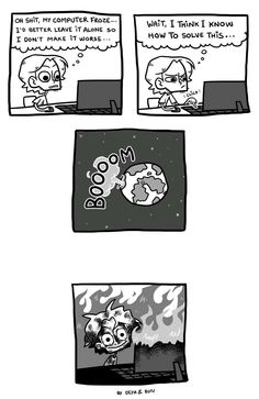 Quest for Nothing :: Frozen Computer   Tapastic Comics - image 1
