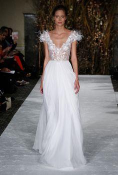 Mira Zwillinger Bridal Spring 2017   #BridalFashionWeek #WeddingDress [Photo: George Chinsee]