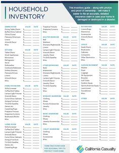 Complete a Home Inventory Emergency Binder, Emergency Preparedness Kit, Emergency Preparation, In Case Of Emergency, Survival, Household Binder, Household Organization, Life Organization, Shopping