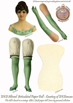 EKDuncan - My Fanciful Muse: My Latest Vintage L&B Paper Doll Purchase is also my Smallest