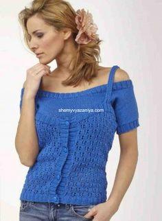 Топ и пуловер с маленькими рукавами