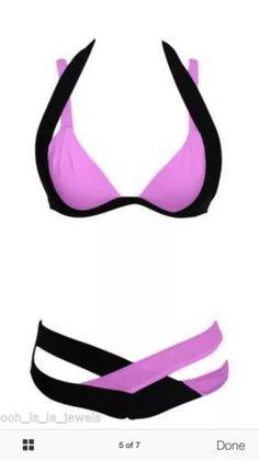 5f7c3725d2d Chic-Spaghetti-Strap-Color-Block-Criss-Cross-Bikini-