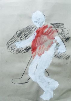 """Holly Froy """"Icarus' Wings""""  Acrylic, ink and charcoal on pape"""