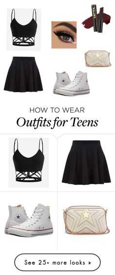 """Coming to the end of summer"" by favour-o on Polyvore featuring Converse, L.A. Girl and STELLA McCARTNEY"