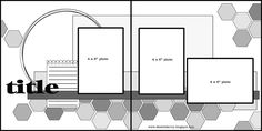Basic Scrapbook Sketch : 6.18.12