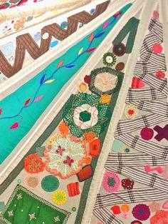 "A detail of Tikke Tuura's ""Virkattu teltta"" ('Crocheted tent') (Photo: Katja K.) ⎮ recyclie.blogspot.fi #tikketuura #recycledart"