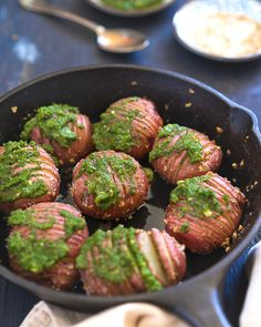 We've always thought of Hasselback potato as a holiday side dish. Because it looks so festive and unusual and goes exceptionally well with roasted meat and poultry. That's why we decided to post this Hasselback Baked Potato with Mint Chutney recipe right before Easter. This dish has lots of variations, and you can use almost …