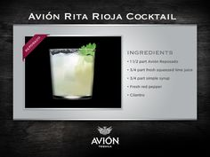 Have you met Rita Rioja? ( #tequila, #tequilaavion, #margarita, #ritarioja, #recipe, #recipes, #cocktail, #cocktails, #drink, #drinks, #mixology, #bartending, #bartender )