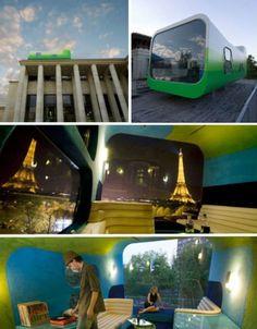 El Hotel Everland (París, Francia)  El Hotel Everland es el primero en su estilo, es de origen suizo y solamente consta de una habitación que podría ser más un mirador o una cúpula, que una habitación de hotel. El hotel está posado sobre el Palais de Tokyo obteniendo una vista increíble del Sena y la Torre Eiffel.