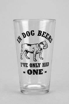 Dog Beers Pint Glass #urbanoutfitters