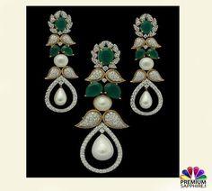Adorn this emerald, pearl and diamond set of earrings @ https://www.premiumsapphire.com/emerald-super-premium-grade.html