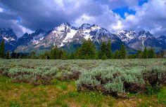 Stunning view of the Grand Tetons in Grand Teton National Park - Wyoming.  Starting at $32