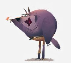 a big bad werewolf! by Stefano Camelli. Character Design Animation, Character Creation, Character Design References, Character Concept, Character Art, Concept Art, Cute Monsters, Character Illustration, Digital Illustration