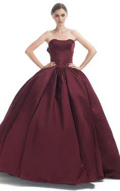 Sweetheart Strapless Princess Gown by ZAC POSEN for Preorder on Moda Operandi