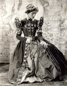 Mary of Scotland, starring Katharine Hepburn shown in black and white.