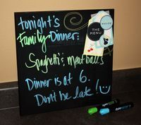 What a fun idea!  You can write on it with neon dry erase markers!