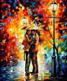 #Couple Impressionist knife painting