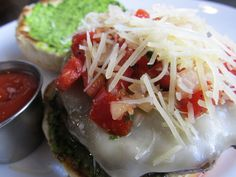 Pesto Burger from Shula's 347 Grill in Coral Gables, Florida