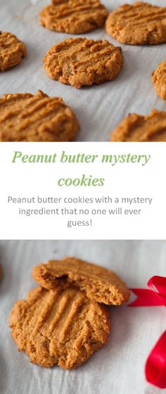 Gluten and dairy-free moist and chewy peanut butter mystery cookies - no one will ever guess what the secret ingredient is!