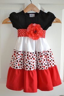 Little Quail: Little girls simple dress 4 way's