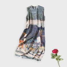 Women 100%real Silk long dress Luxury Natural silk dress Print Sleeveless dress 2016 New