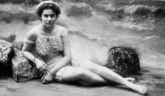 Marieaunet: First woman in Australia to wear a one-piece bathing suit - c.early 1900s