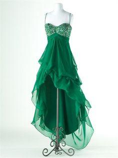 A - line Empire Sweetheart Sleeveless Asymmetrical Chiffon Bridesmaid / Evening Dresses / Prom Dresses. $149.00, via Etsy.