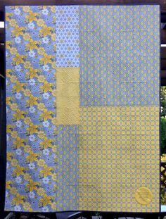back of quilt - Blogger's Quilt Festival Entry — Good Day Sunshine.  First Light Designs.