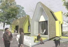 """proposal for modular housing in Raleigh, NA and new residential zoning. """"Alley Residential"""" would re-zone alleys into plots of land that could have small modular homes on it. Full package ~$33,000USD. While I don't know ll the details, this seems like an alternative that should be made possible."""